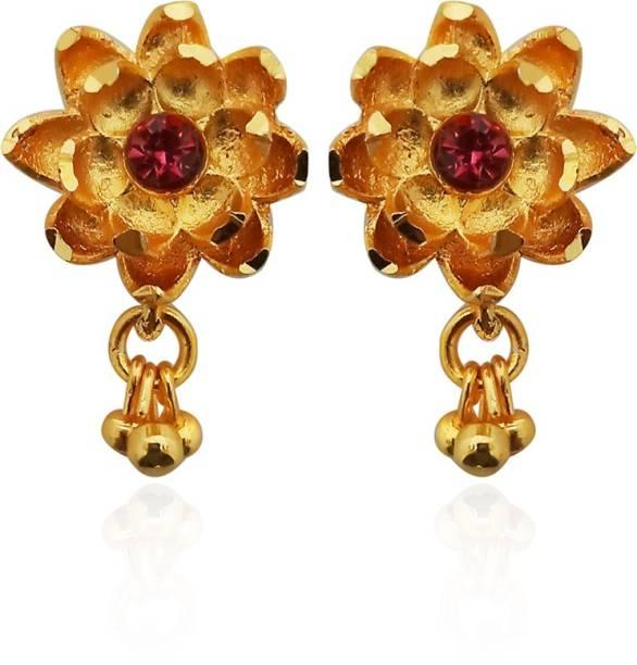 b3ef3aed8 Kriaa by JewelMaze Gold Plated Pink Austrian Stone Dangler Earrings-1311756  Alloy Dangle Earring