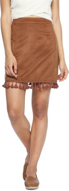 faae395aa90f Brown Skirts - Buy Brown Skirts Online at Best Prices In India ...