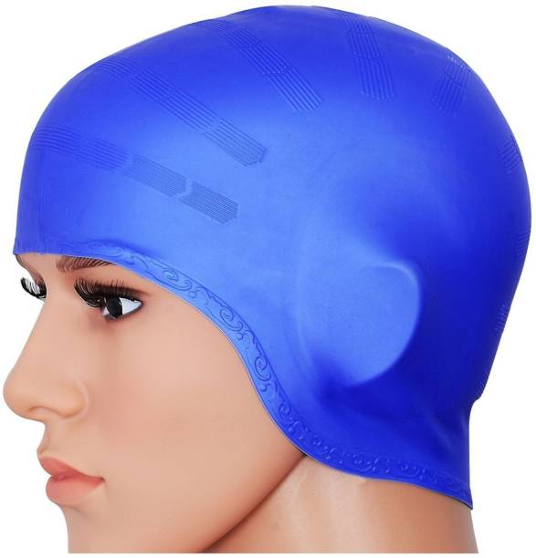 e4ee2327489 Xerobic Swimming Elite Ear Protection Swim Cap for Long Hairs Waterproof  Unisex Premium Earmuffs Silicone No
