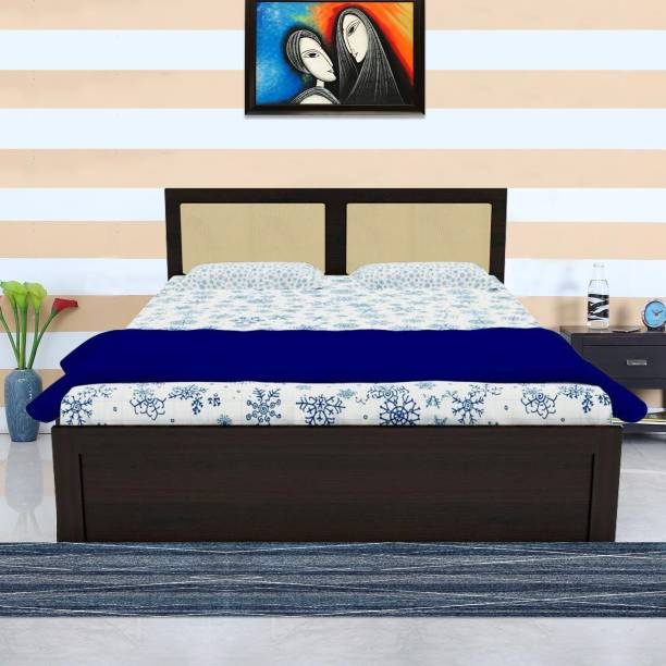 UNICOS Austin King bed Without Storage Engineered Wood King Bed