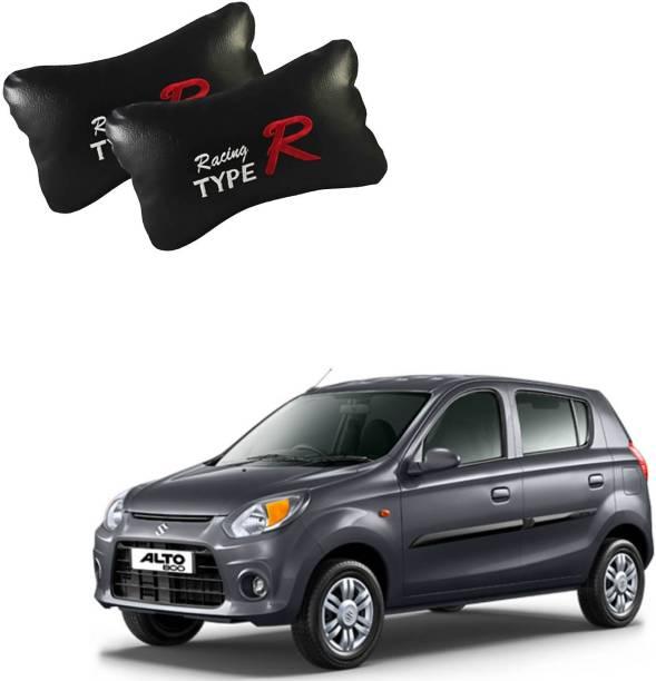 AutoKraftZ Black Leatherite Car Pillow Cushion for Maruti Suzuki