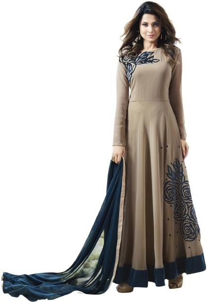a9c292effe Navya Georgette Embroidered Semi-stitched Salwar Suit Dupatta Material