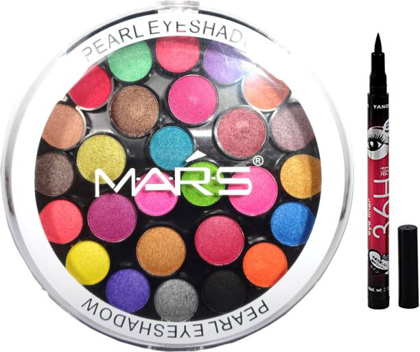 MARS 32 shade eyeshadow+smudge proof eyeliner