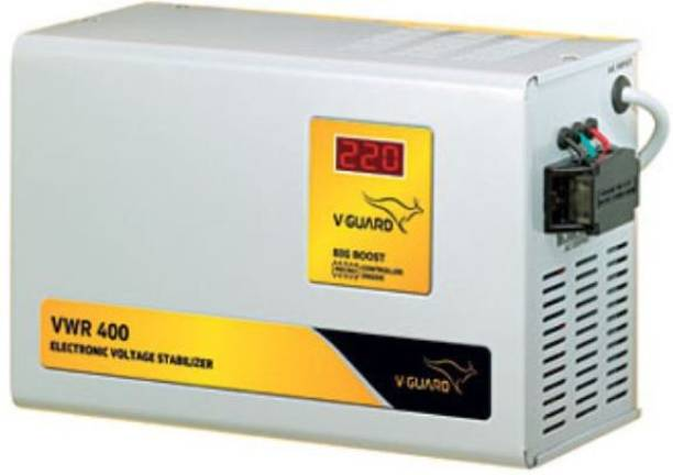 V-Guard VWR 400 for AC upto 1.5 Ton (130V- 300V) Voltage Stabilizer