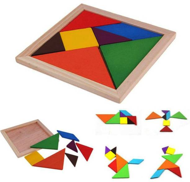 Kidzoo Wooden Tangram Puzzle Educational Toy For Kids