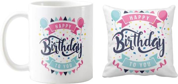Giftsmate Birthday Gifts Happy Mug Balloons For Husband Wife Boyfriend Girlfriend Hamper Set