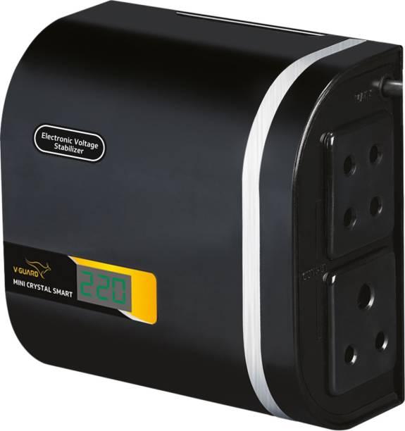 V-Guard Mini Crystal Smart TV Voltage Stabilizer for 82 cm (32) TV+Set topbox (Working Range: 90-290V; 1.3 A)