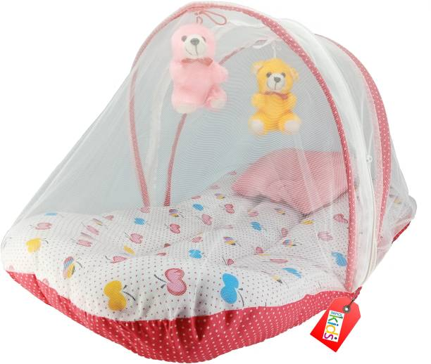 a491b1b014e Anmol Kids Extra Comfort Skin Friendly Super Premium Pink Apple with Hanging  Toys 03 Baby Bed