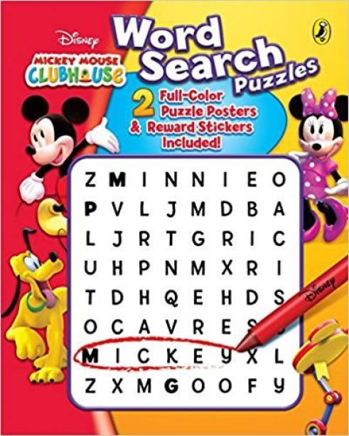 Word Search Puzzles - 2 Full - Color Puzzle Posters & Reward Stickers Included!
