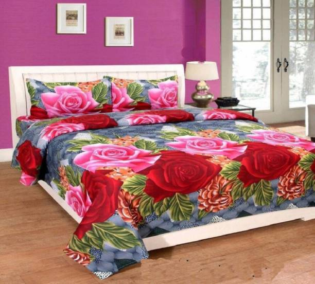 Viara 140 TC Cotton Double 3D Printed Bedsheet