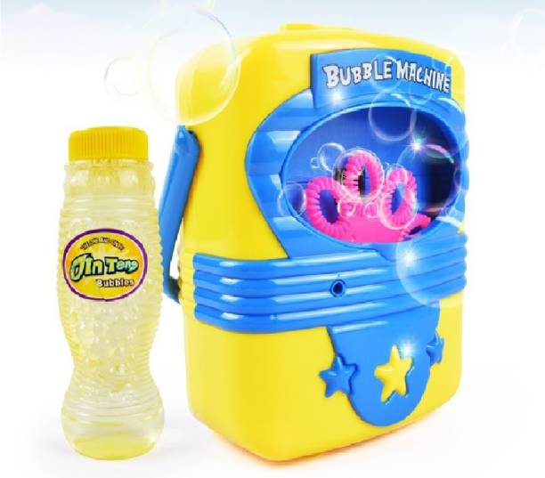 Toys Bhoomi Bring Along Portable Indoor & Outdoor Electric Automatic Bubble Blowing Machine with 118ml Non Toxic Refill