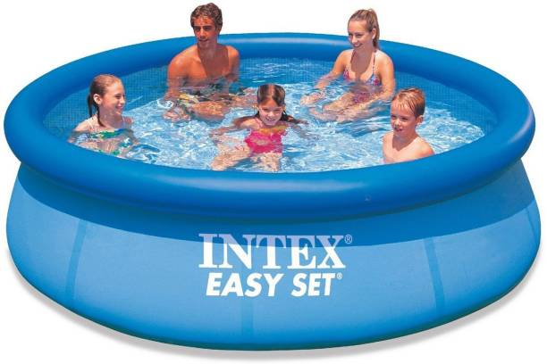INTEX ® Original Inflatable,Superior 10ft X 30inches Jumbo Easy Set 3850 Litres Water Capacity Family Pool Inflatable Swimming Pool