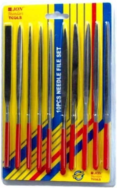 Digital Craft Jon Bhandari Multi-function Precision Needle Files - Black + Iron Grey 10 PCS Knife Sharpening Steel