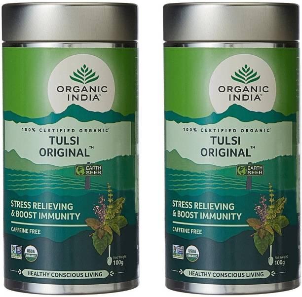 ORGANIC INDIA Tulsi Original Tulsi Herbal Tea Drum