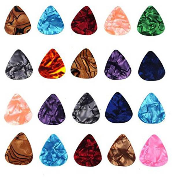 PENNYCREEK 20 pc Alice 0.46mm Guitar Picks Plectrums Smooth Nylon Material {Pack of 20} Guitar Pick