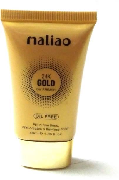 maliao 24k gold gel base primer for long lasting oil control flow less HD makeup Primer  - 40 ml