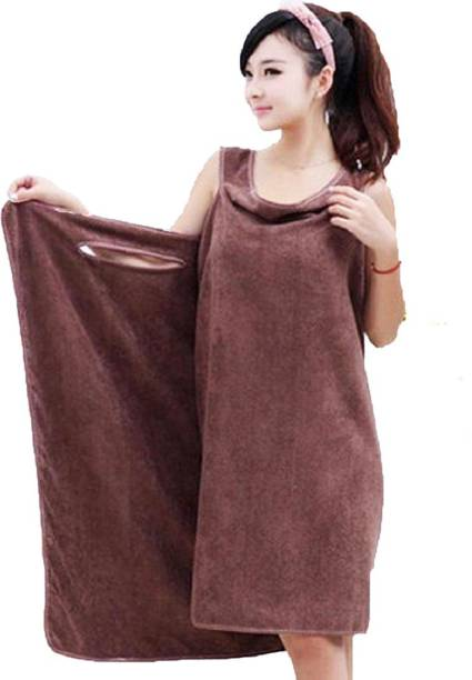 BRANDER Brown Free Size Bath Robe