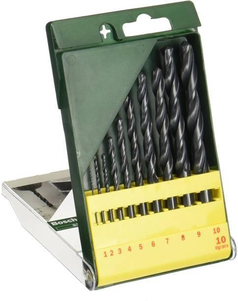 BOSCH 2607019442 10pc HSS drill bit set Twist drill bits made of High speed steel. Long life.