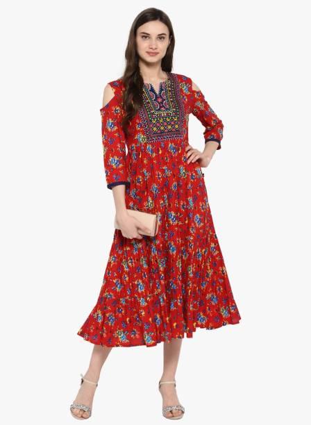 ca082008f95 Juniper Women Floral Print Anarkali Kurta