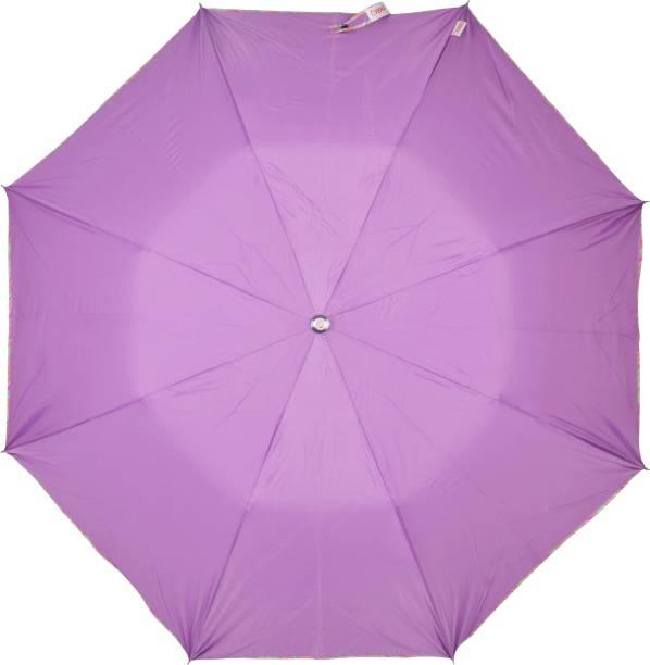 Fendo 2 Fold Purple Color Auto Open Umbrella