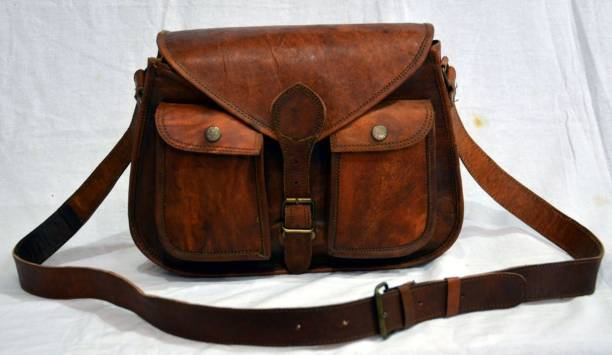 STYLOLEATHERBAGS Indian-Handmade-Real-Goat-Leather-Vintage-Messenger-Cross bc7ea1a631908