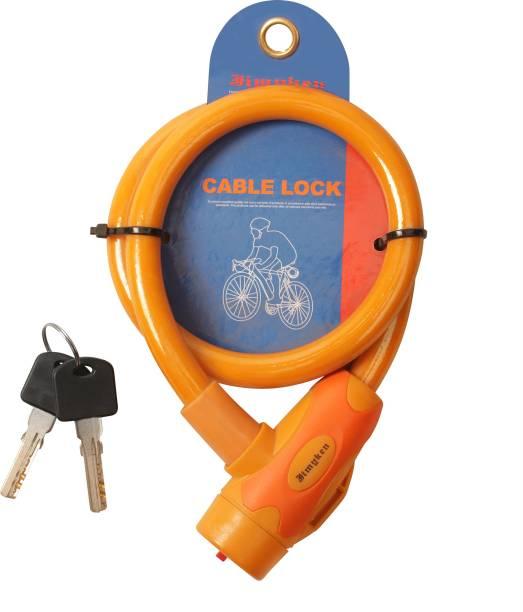 Auto Hub Stainless Steel, Plastic Key Lock For Helmet