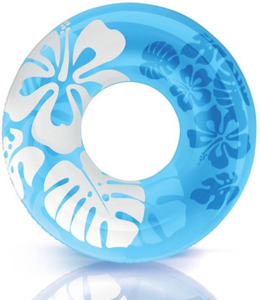 INTEX ® Original Inflatable clear Graphic Print (Blue) Water Swimming Ring Inflatable Swimming Safety Tube