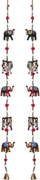 DreamKraft Rajasthani Decorative Crystal Elephant Door Hanging For Main Door Home Décor Toran