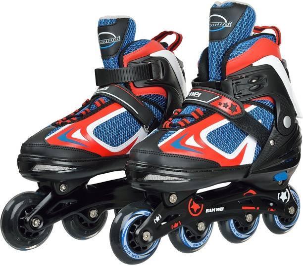 IRIS 78 mm Adjustable In-line Skates - Size 3-6 UK