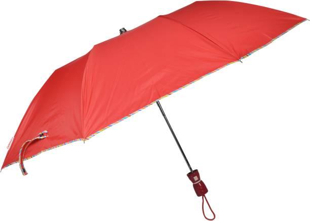 Fendo 2 Fold Red Color Auto Open Ladies Umbrella