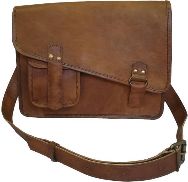 STYLOLEATHERBAGS Leather Messenger Bag Leather Shoulder College Bag Sling  Bag 87193d3e8df1b