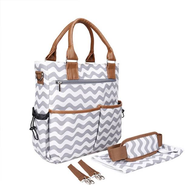 Robustrion Stylish Waterproof Multifunctional Diaper Bag For Mothers Travel Ny Tote Backpack Large Size