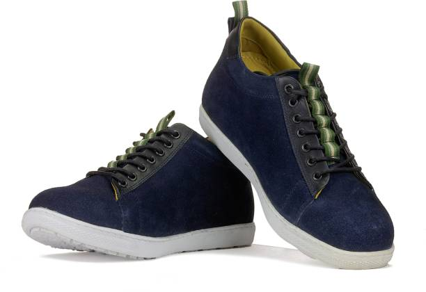brand new 2204d 9ed54 Elevato Height Increasing Navy Blue Sneakers - 3 Inches Sneakers For Men