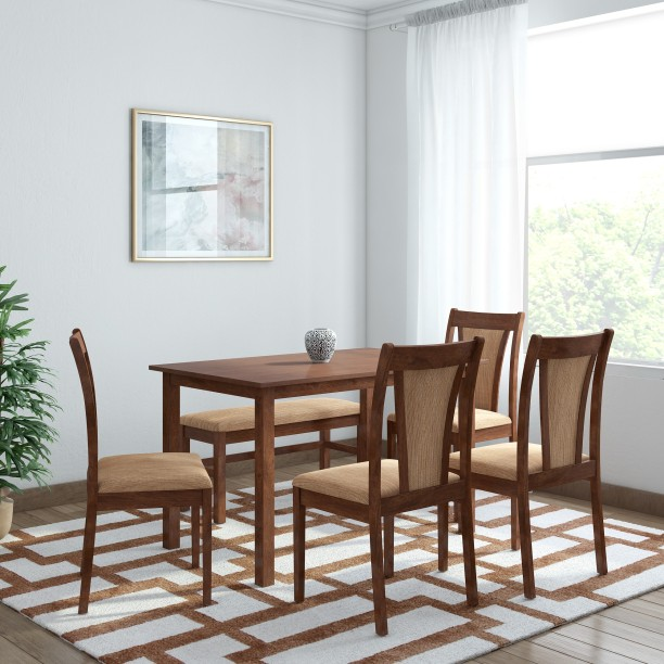 @home By Nilkamal Jewel Solid Wood 6 Seater Dining Set