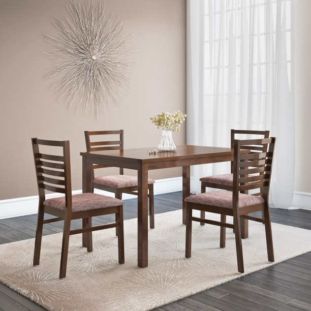 @home by Nilkamal Gem Solid Wood 4 Seater Dining Set & Dining Table and Chairs: Buy Dining Table Sets Online at Best Prices ...