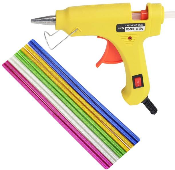 OKASTA 20W I High Quality I With 10 Glitter Glue Sticks Hot Melt Glue Gun Kit