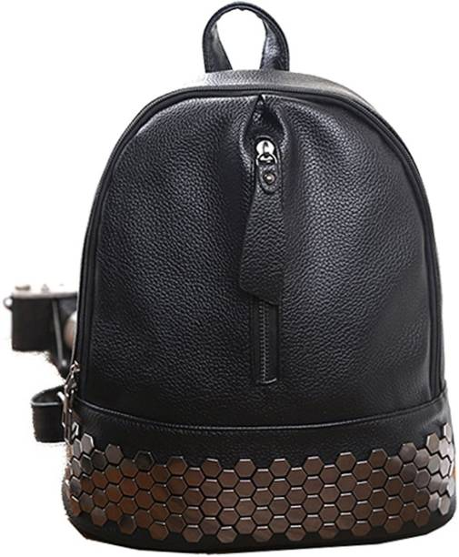 d82938a04ce2 Di Grazia Black Rivet Stone Studded Womens Handbag Backpack Waterproof  Backpack