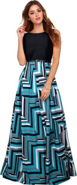Funny Women S Maxi Multicolor Dress