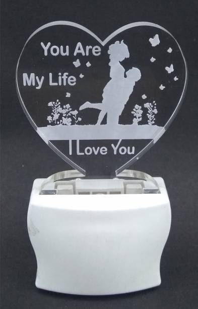Gkart L004 Night Lamp, You Are My Life - I Love You, Multicolored LED Night Lamp