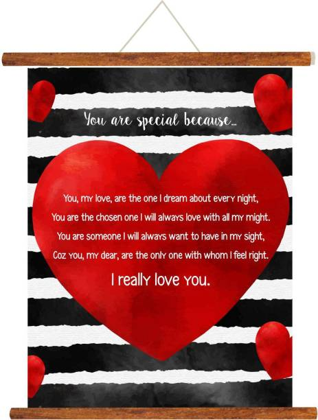 Giftsmate Birthday Anniversary Gift For Boyfriend You Are Special Because Love Scroll Greeting Card