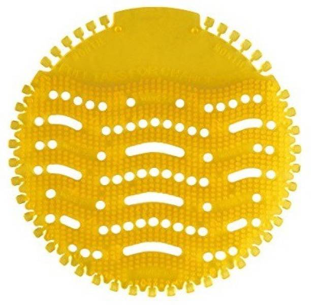 Agromech ROUND URINAL DISINFECTOR MAT SCREEN Lemon Mat Toilet Cleaner