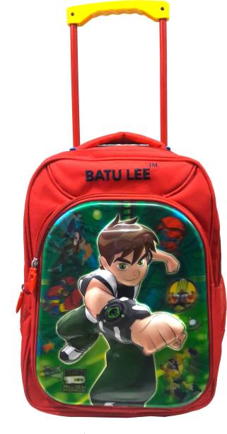 Batu Lee Red Waterproof Trolley Children's Backpack Waterproof Trolley