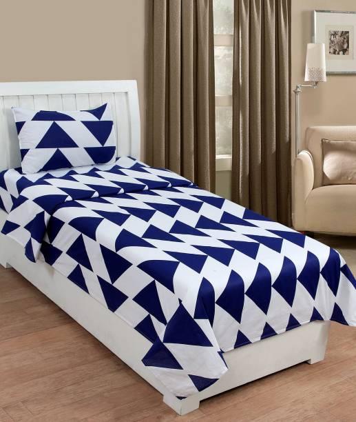 Beautiful Home 150 TC Cotton Single Geometric Bedsheet