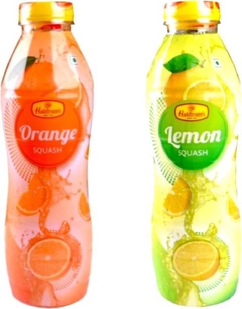 Haldiram's Orange Squash and Lemon Squash (Combo Pack)