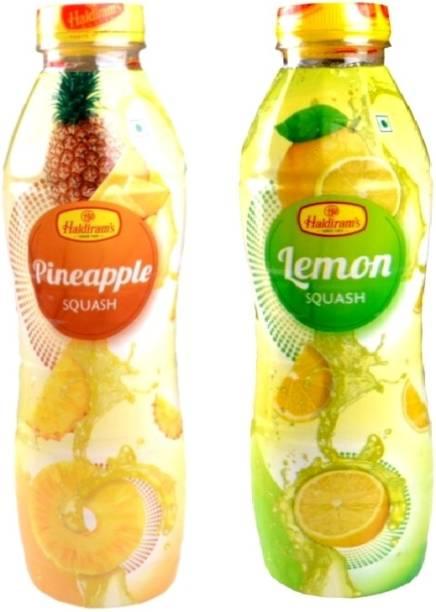 Haldiram's Pineapple Squash and Lemon Squash (Combo Pack)