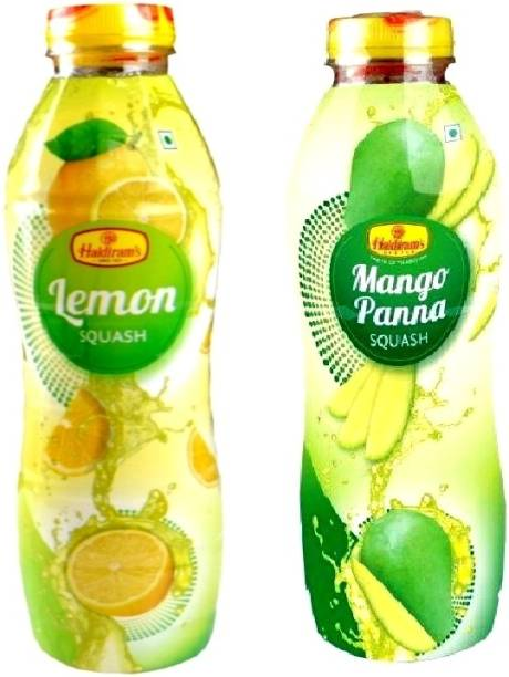 Haldiram's Lemon Squash and Mango Pana Squash (Combo Pack)
