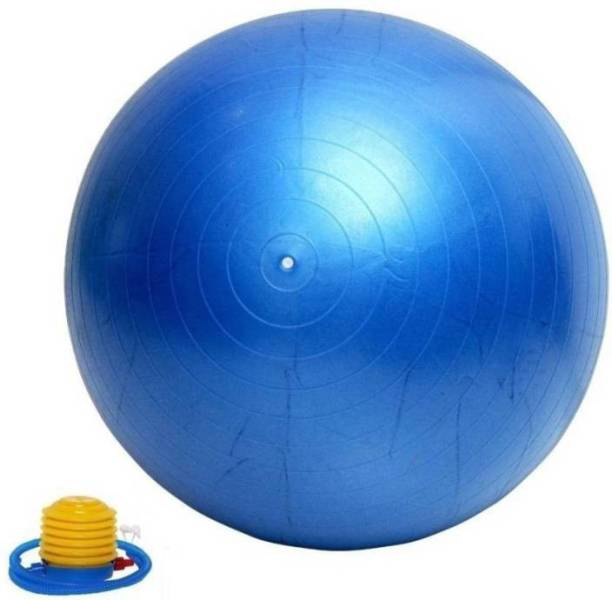 Fitguru EXERCISE BALL 75 CMS BLUE WITH FOOT PUMP Gym Ball
