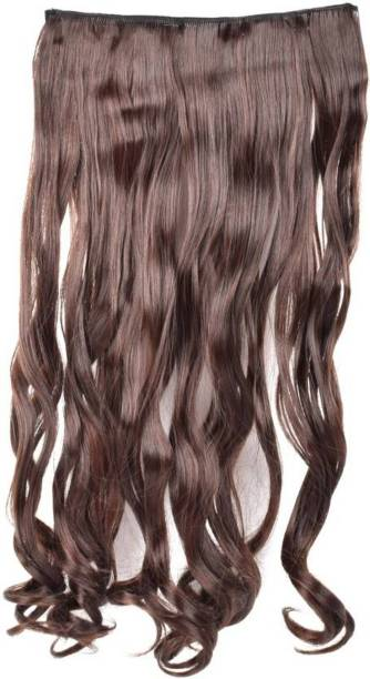 PEMA 2 Minute Natural brown Clip in Curly Hair Extension