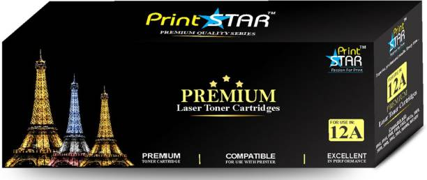 PrintStar 12A Black Toner Cartridge / Q2612A HP 12A Black Toner Compatible / HP LaserJet 1010, 1012, 1015, 1018, 1020, 1022, 1022n, 3020, 3030, 3050, 3052, 3055, M1005, M1319f Black Ink Toner