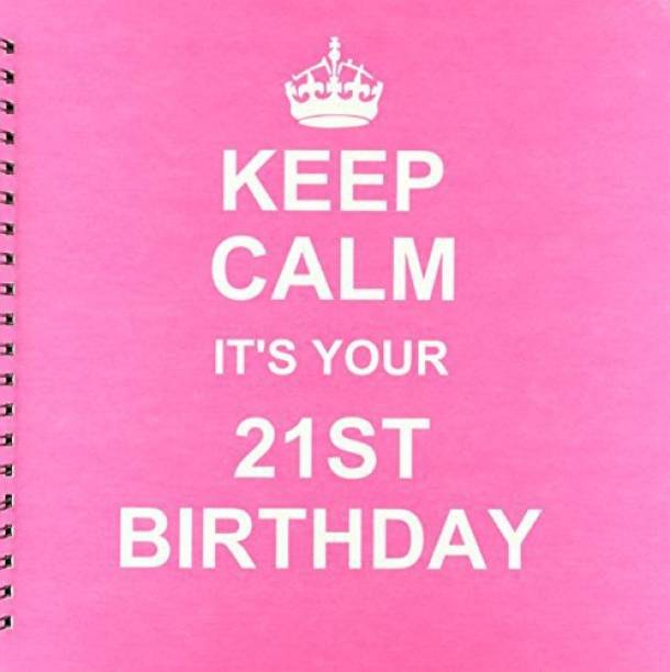 3dRose Keep Calm Its Your 21st Birthday Hot Pink Girly Girls Fun Stay Urning 21